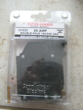 Cutler Hammer Ch220 Double Pole 120V 20 Amp Plug-On Circuit Breaker Free Ship