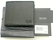 New Hugo Boss  Arezzo, Mens Wallet Black Leather Wallet 50250280 coin pocket
