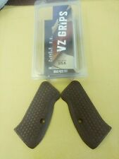 Vz Grips for Cz 75 compact Frag pattern in black cherry