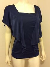 NWT XHILARATION BATWING STRETCH SQUARE NECK TOP BLOUSE SIZE M