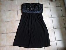 Robe soirée bustier 38 noir Esprit