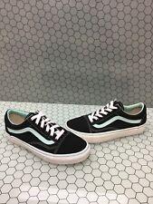 VANS Old Skool Black/Mint Canvas Lace Up Skate Shoes Men's Size 6  Women's 7.5