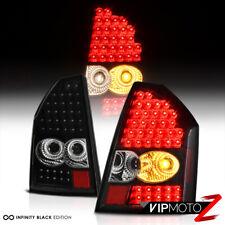 WICKED!!!  2005-2007 Chrysler 300C Black LED Tail Lights Brake Lamps LEFT+RIGHT
