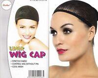 Perückennetz Unterziehhaube Schwarz Haarnetz Perücke Karneval Fasching Wig Cap >