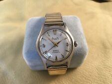 Vintage ALSTA ALSTAFLEX Incabloc Stainless Wristwatch Running