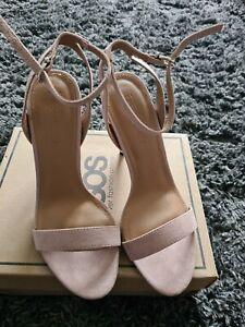 ASOS HUSH Nude Heeled Sandals UK6