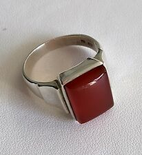 40% SALE! Genuine Sterling Silver Carnelian Signet Style Ring RRP $299