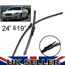 "For Jaguar XF 2009-2015 Front Windscreen 24""19"" Flat Aero Wiper Blades Set"