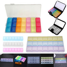 7/14/21/28 Grids Weekly Pill Box Storage Candy Sundries Container Organizer Case