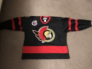 1992-93 Ottawa Senators Alexei Yashin CCM Centre Ice Authentic Jersey 52