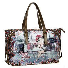Sac Fourre-tout Cabas Femme Disney ceinture d'épaule Betty Boop 46513 café'