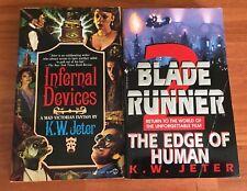 Infernal Devices & Blade Runner 2 by K.W. Jeter Sci Fi Paperback Bantam Signet