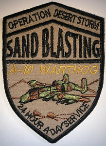 USAF Operation Desert Storm San Blasting A-10 Warthog Patch Repro New A460