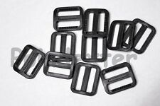 12 Pack - 1 Inch Tri Glide Buckle, Slide, Strong Black Polymer Buckle, NEW USA