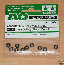 Tamiya 84195/9805240 3mm O-ring (Negro, 10 Piezas.) Boomerang/Bigwig/Monster Beetle