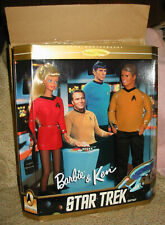 Nib Barbie & Ken Star Trek Gift Set 30th Anniversary w Shipper 1996 #15006 Kirk