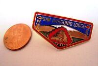 MERGED OA SAN GORGONIO LODGE 298 ORANGE EMPIRE AREA CA SCOUT PATCH BEAR FLAP PIN