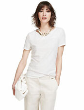 New M&S Per Una White Cool Comfort Textured Top Sz UK  22