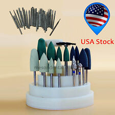 47Pcs Dental Lab Silicone Rubber Rotary Tungsten steel Polishing Burs 2.35mm usF