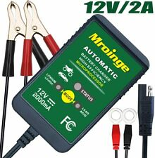 Mroinge 12V 2A Lead Acid/Lithium(LiFePo4) Automatic Trickle Battery Charger For