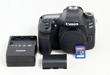 MINT CANON EOS 80D 24.2 MP Digital SLR Camera Black Body ONLY 6K SHUTTER COUNT