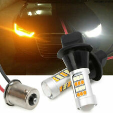2 X Dual-Color BAU15S 2835 42LED 50W Switchback LED DRL Turn Signal Light Kit