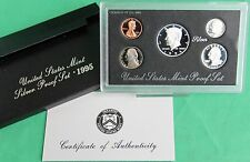 1995 United States Mint ANNUAL 5 Coin SILVER Proof Set Free Shipping in the USA