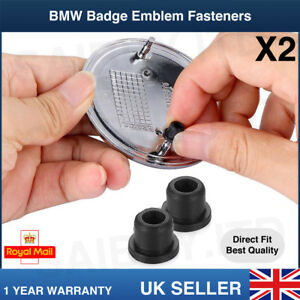2pcs BMW Badge Logo Trunk Emblem Fastener Grommets BMW 3 5 7 Series E32 E34 E36