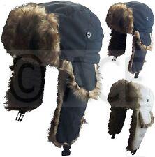 Faux Fur Showerproof Flaps Skiing Winter Russian Aviator Trooper Cap Trapper Hat