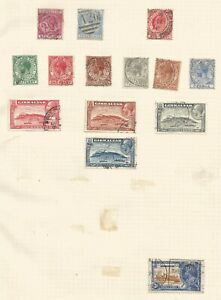 GIBRALTAR SMALL MIXED MINT & MOSTLY USED COLLECTION GEO VI TO 1/- & QE II TO 10/