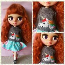 Unicorn sweater for Blythe, Azone Pure Neemo, Licca, bjd Dolls.