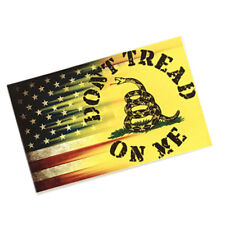 2/PC Dont Tread On Me USA Flag Vinyl Decal Sticker On Car 4.5'' x 2.8''