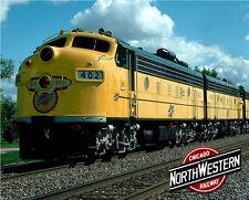 Chicago North Western F-Units Sturdy Metal Sign Logo Photo