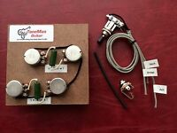 The Blues prewired Harness Kit For Gibson Les Paul Long Shaft Pots Switch
