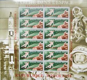 TOGO 1966 KLB 513-16 a A Menschen im Weltraum Men in Space Leonow White MNH