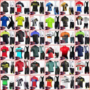 Cycling Jersey Men's Uniform Bicycle 10D Bib Shorts Set Bike Shirt Pants Pad