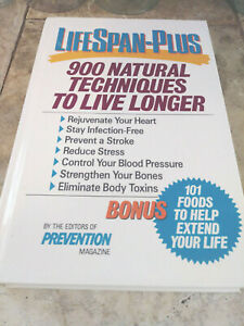 LIFESPAN-PLUS 900 Natural Technoques To Live Longer 1990 Hardcover