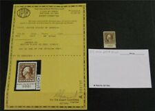 nystamps US Stamp # 503 Mint OG NH Plate PF Certificate