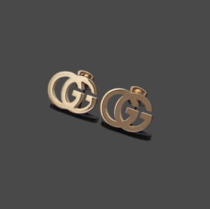 GUCCI Rose Gold GG Stud Earrings