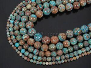 Natural Calsilca Jasper Gemstone Round Spacer Beads 15.5'' 4mm 6mm 8mm 10mm 12mm