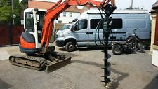 post hole auger on digger and driver for hire