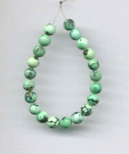 "HUBEI CLOUD MOUNTAIN TURQUOISE 5MM ROUND BEADS - 4"" - 6718"