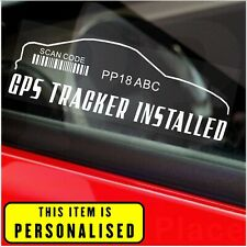 2 x GPS Tracker System Security Window Warning Stickers Alarm Device Sign Car