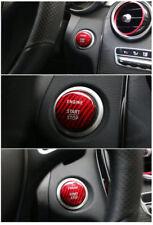 Red Real Carbon Fiber Car Engine Start Stop Button Cover Set For Mercedes Benz