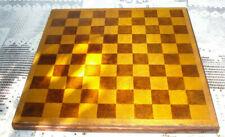 ancien jeu en bois d'échec et de dames double face