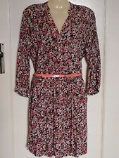Gorgeous EDC by ESPIRIT 3/4 Sleeve Print Belted Shirt Dress XS BNWT RRP $99.95