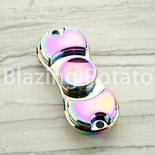 RAINBOW Hand Spinner Tri Spinners Figet Desk Toy Focus EDC ADHD -NEW- ☆USA☆ #D
