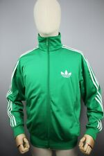 Adidas Originals style 90's Vintage Mens Tracksuit Top Green Jacket Size S