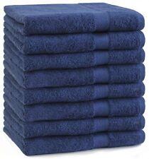 Betz Lot de 8 serviettes de toilette Premium bleu foncé 100% coton