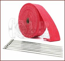 "1"" x 50' Motorcycle Protection Header Exhaust Heat Tape Wrap  - Red"